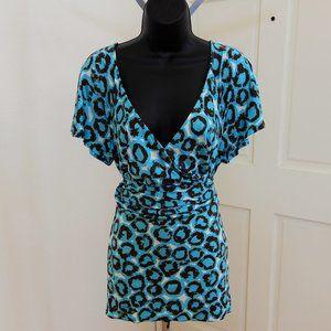 Diane Von Furstenberg - Blue Leopard Print Dress